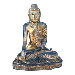 Antique Burmese Mandalay Buddha Statue For Sale