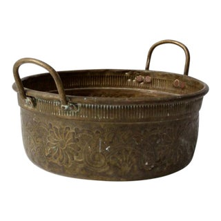 Antique Brass Basin