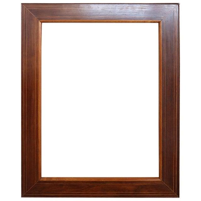 19th Century Italian Charles X Inlay Walnut Wood Frame For Sale - Image 6 of 6