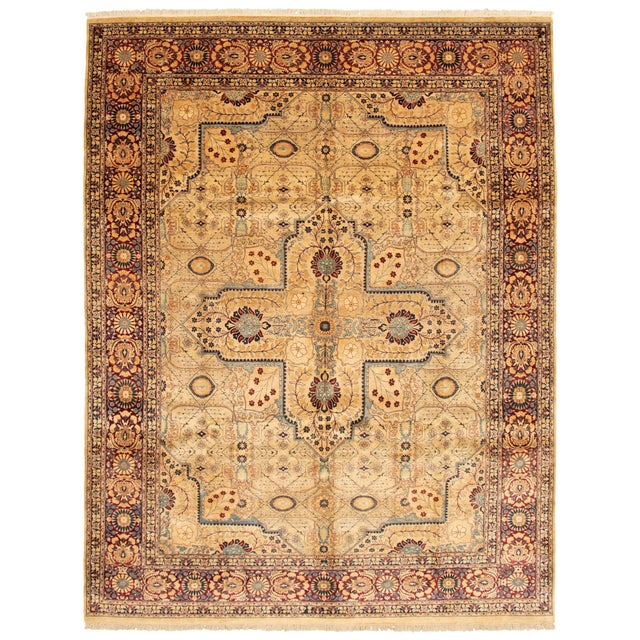Classic Hand-Knotted Rug For Sale - Image 9 of 9