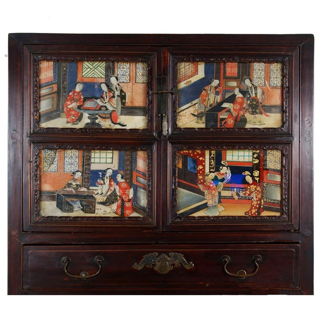 Late 19th Century Antique Chinese Carved Fujian Armoire/Dresser For Sale - Image 5 of 6