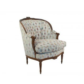 1880s French Fruitwood Louis XVI Style Bergere Chair Preview