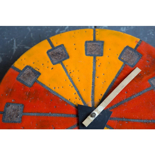 "George Nelson ""Meridian"" Line George Nelson Clock For Sale - Image 4 of 4"