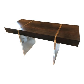 John Richard Aristar Eucalyptus and Acrylic Desk