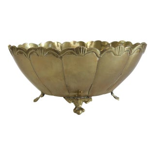 Vintage Brass Raised Footed Bowl Dish
