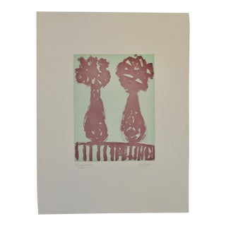 "Arthur Krakower Monotype ""Twin Vases Ii"" C.2004 For Sale"