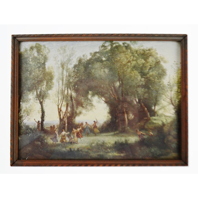 Paper Jean Baptiste Camille Corot Framed Prints - A Pair For Sale - Image 7 of 10