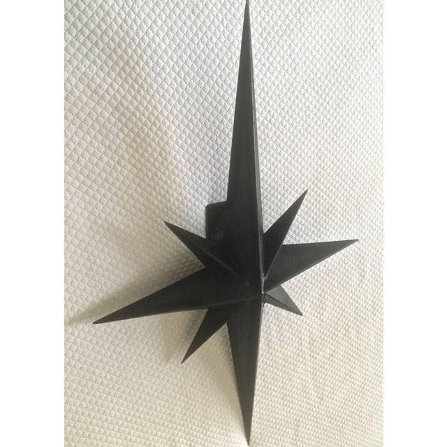 Awesome Pair of Wrought Iron Star Sconces Attributed to Tom Dixon First Period.
