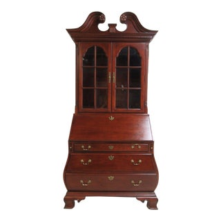Thomasville Bombay Cherry Drop Front Secretary Writing Desk For Sale