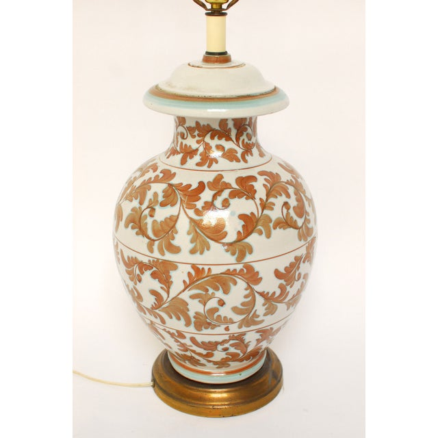Faience Style Ceramic Urn Table Lamp - Image 2 of 6