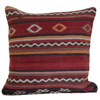 1970s Mediterranean Handmade Kilim Rug Pillow