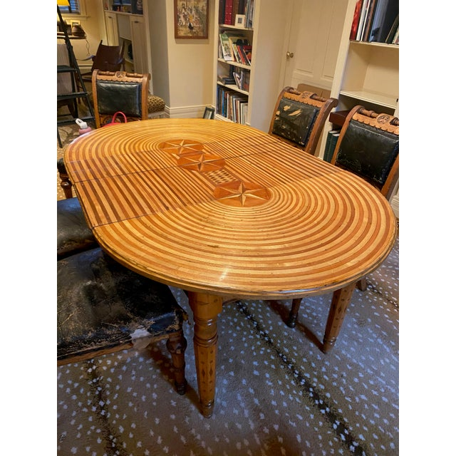 Wood American Folk Art Table For Sale - Image 7 of 9