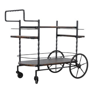 Industrial French Bar Cart For Sale