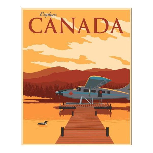 Steve Thomas Canadian Travel Poster For Sale