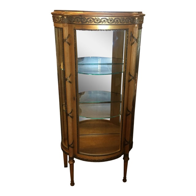French Vitrine Curio Cabinet - Image 1 of 6