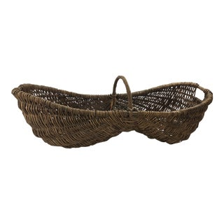 Antique French Basket For Sale