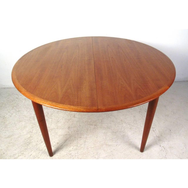 Mid-Century Teak Conference Table & 14 Eric Buck Dining Chairs For Sale - Image 5 of 10