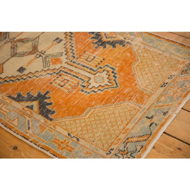 "Cotton Vintage Distressed Oushak Rug Runner - 2'9"" X 5'3"" For Sale - Image 7 of 10"