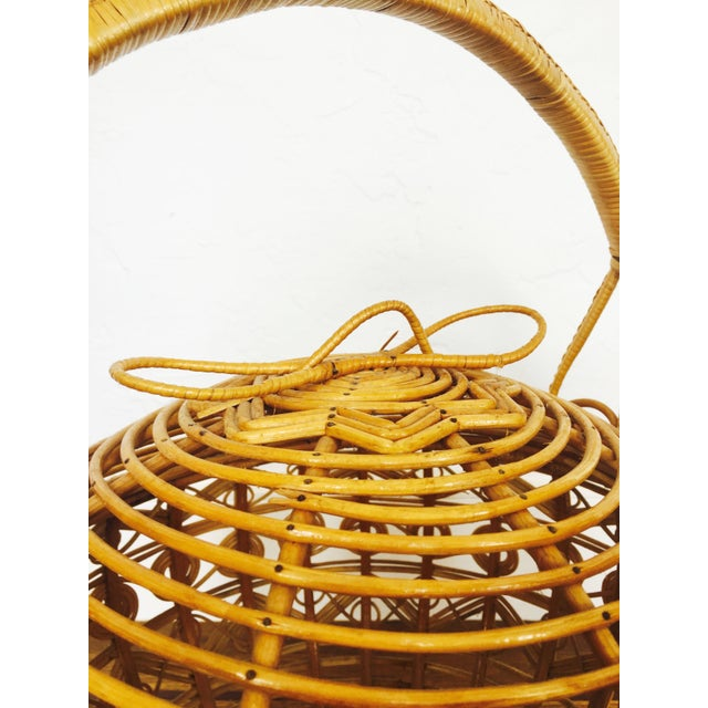 Vintage Large Rattan Basket - Image 5 of 7