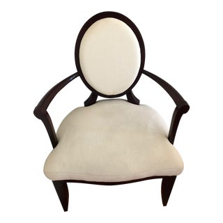 Baker Furniture by Barbara Barry White Upholstered X-Back Chair