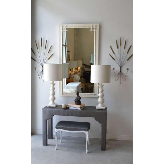 Upholstered Console Table For Sale In West Palm - Image 6 of 7
