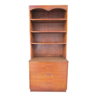 Lane Mid-Century Modern Chest of Drawers with Hutch/Bookcase Top