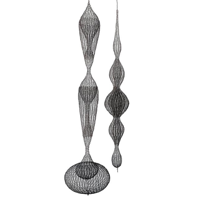 d'Lisa Creager Woven Wire Hanging Sculpture For Sale - Image 10 of 11