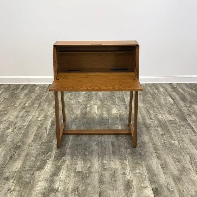 Cb2 Intimo Birch Secretary Desk For Image 4 Of