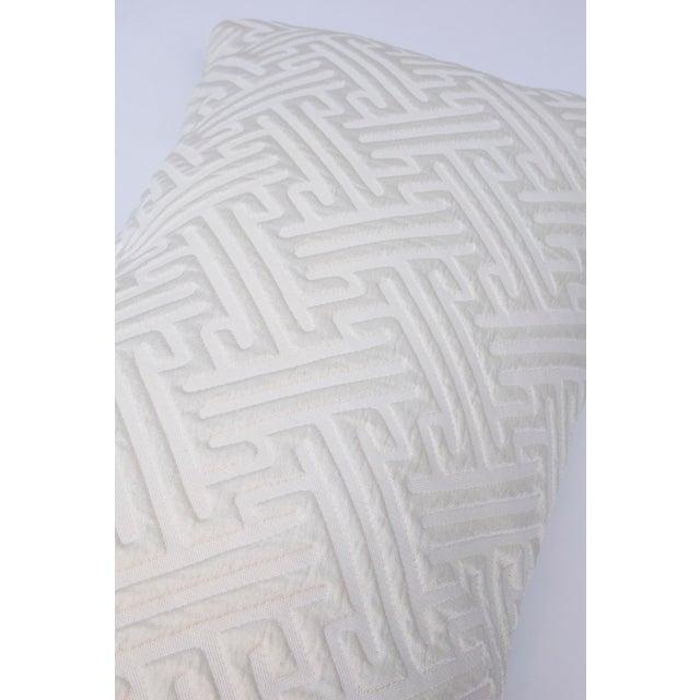Cream Geometric Print Lumbar Pillow For Sale - Image 4 of 6