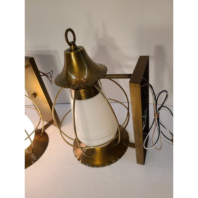 Vintage Nautical Earl Lites Wall Sconces - a Pair For Sale In Austin - Image 6 of 13