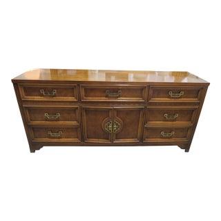 Vintage Henry Link Mandarin Asian Chinoiserie Burlwood Fretwork Dresser