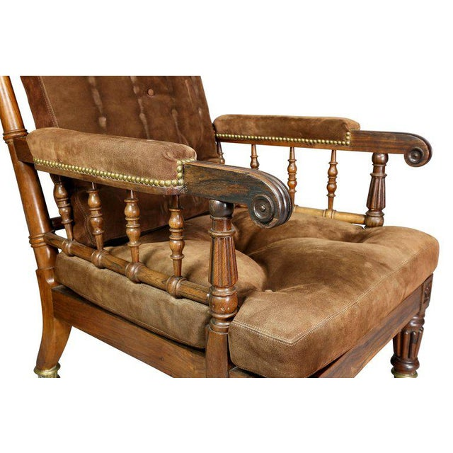 George IV Rosewood Bergere Chair by Gillows For Sale In Boston - Image 6 of 12
