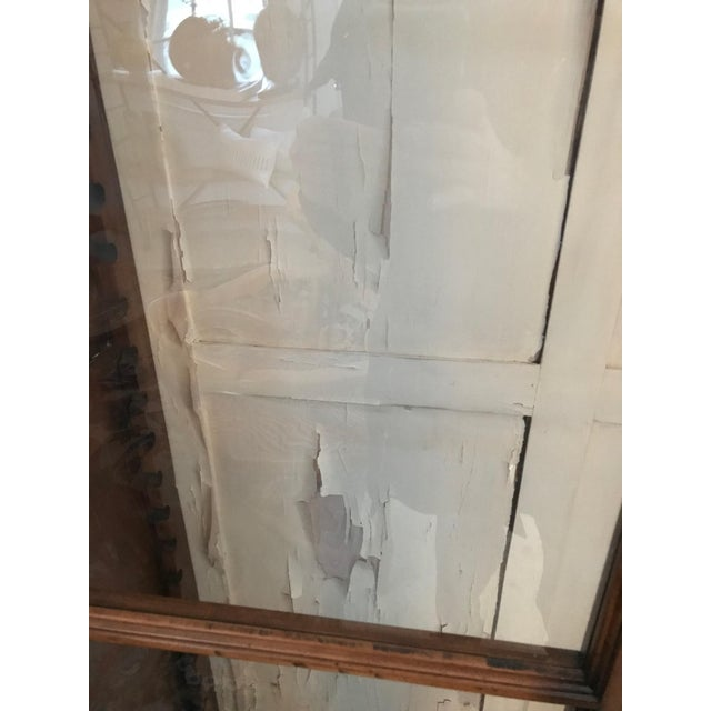 Mid 19th Century Antique Armoire or Shelving Unit With Rolled Glass Door Panels For Sale - Image 5 of 9