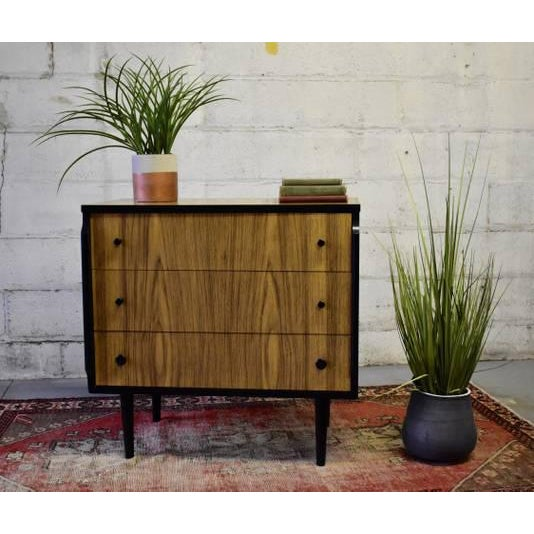 """Mid Century Modern Dresser by Kent Coffey's """"Teakway"""" line, a stunning line that contrasts ebonized legs and edging with..."""