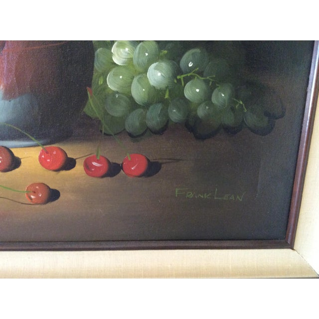 Mid-Century Frank Lean Still Life in Oil For Sale - Image 4 of 13
