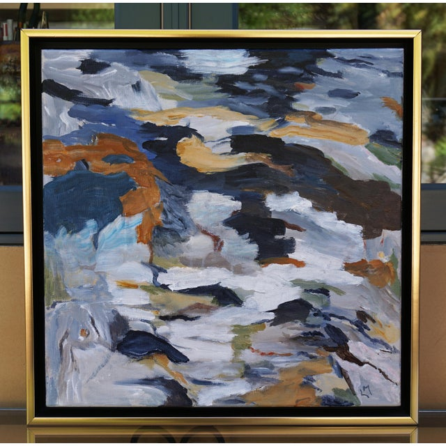 """Canvas Laurie MacMillan """"First Thaw"""" Abstract Painting For Sale - Image 7 of 7"""