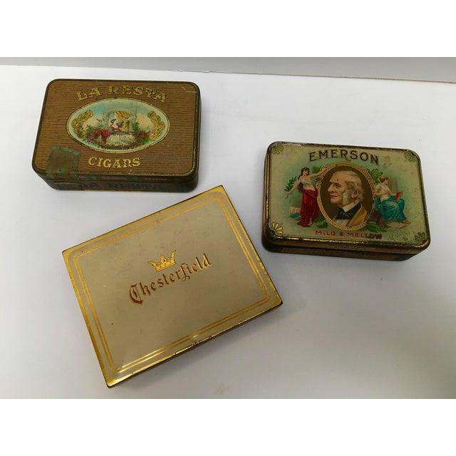 Vintage Tobacco Cigar & Cigarette Tins - Set of 3 - Image 2 of 11