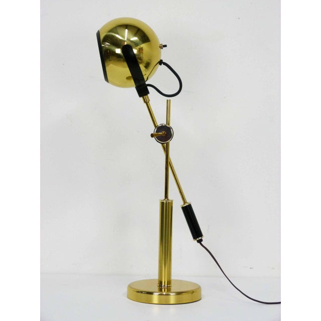 Brass Orb Ball Articulating Desk Lamp - Image 2 of 9