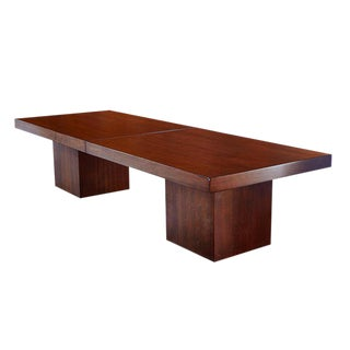 1960s Mid-Century Modern John Keal Brown Saltman Expanding Walnut Coffee Table For Sale