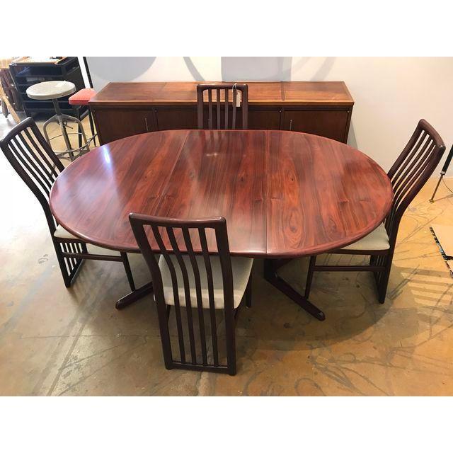 Kai Kristiansen Rosewood Dining Set For Sale In San Francisco - Image 6 of 7