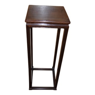 Chinese Rosewood Pedestal Table For Sale