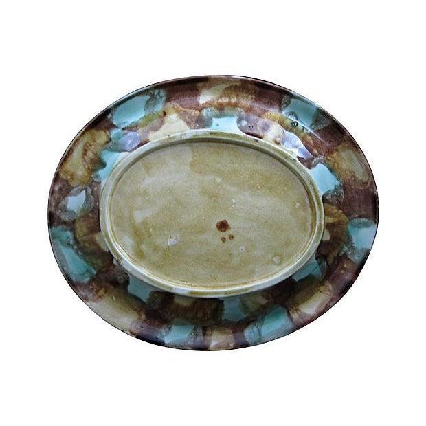 Antique 19th C. Majolica Gothic Grapevine Platter For Sale In Philadelphia - Image 6 of 6