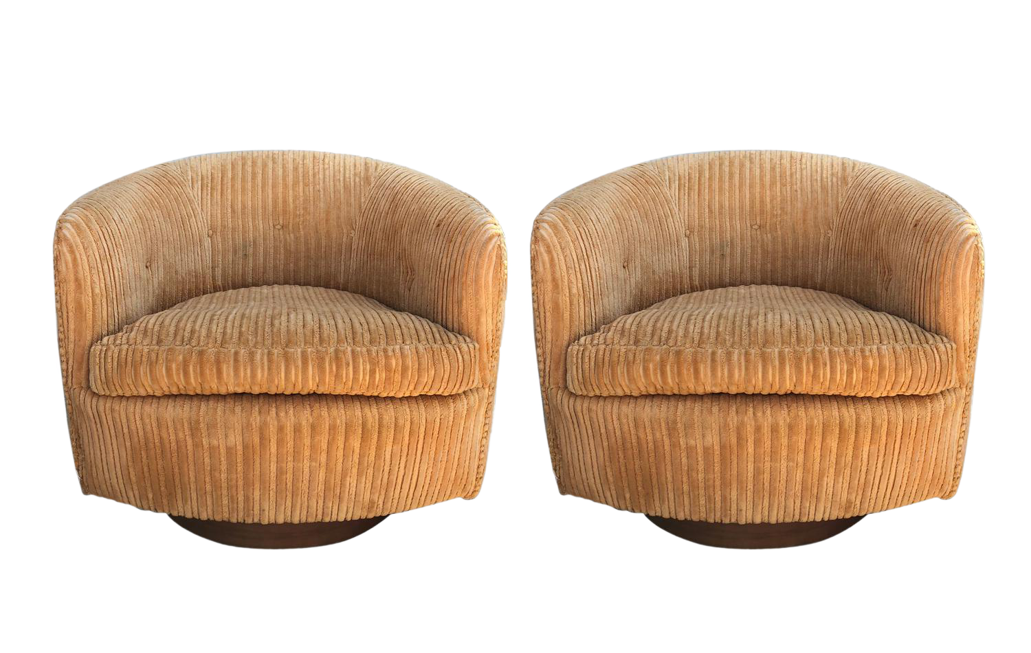 Pair Of Milo Baughman Tilt And Swivel Lounge Chairs