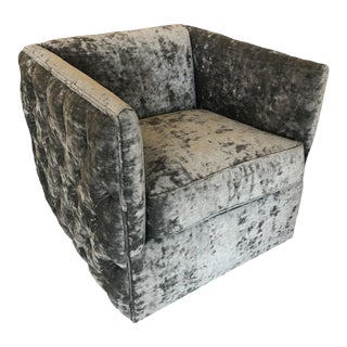 Tufted Swivel Chair For Sale