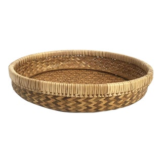 Vintage Round Woven Tray