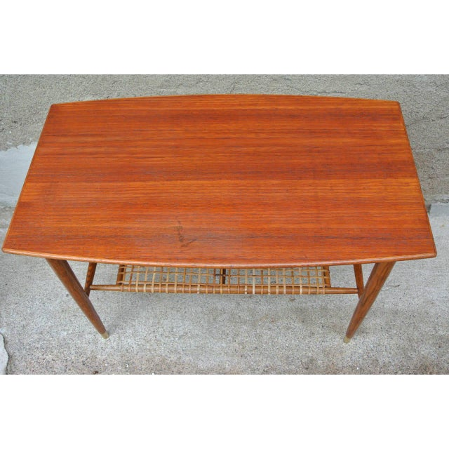 Mid-Century Modern Folke Ohlsson Two-Tier Table for Dux For Sale - Image 3 of 8