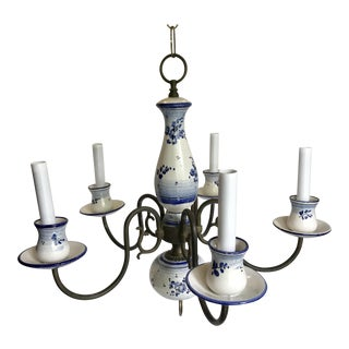 Delft Vintage Blue and White Chandelier