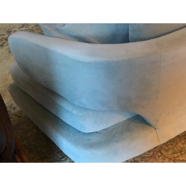 Vintage Mid Century Modern Curved Sectional Couch B&b Italia Style For Sale - Image 4 of 11
