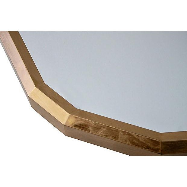 1970s Faceted Gold Wall Mirror - Image 4 of 8
