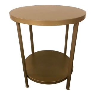 Transitional Alloy Side Table For Sale